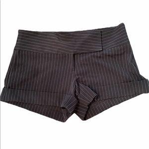 Black Pinstripe shorts